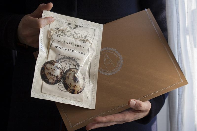 emballage cadeau coquillages d'allaitement BEBE NACRE