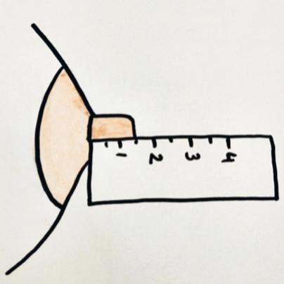 hauteur du teton pour le choix d'un coquillage d'allaitement